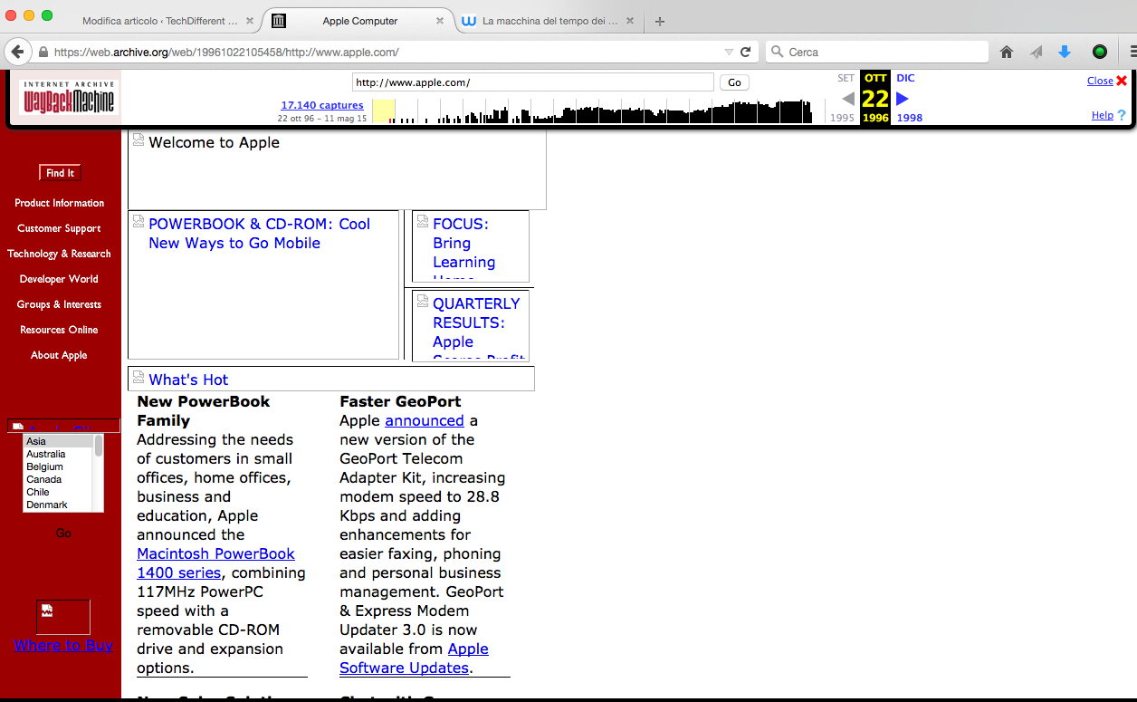 wayback machine web